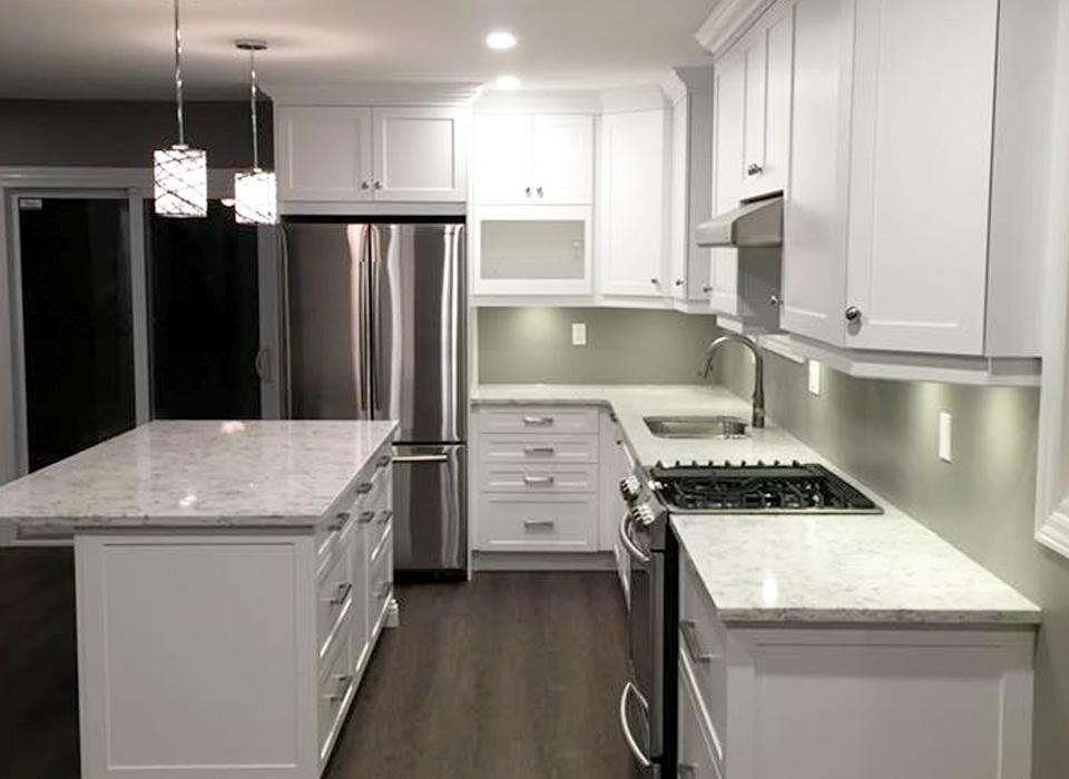 inside of kitchen renovation